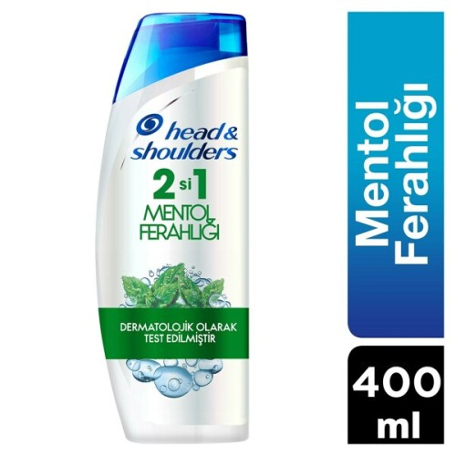 Head & Shoulders Şampuan 2 si 1 Arada Mentol Ferahlığı 400 Ml