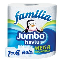 Familia Jumbo Havlu 1=6 Rulo