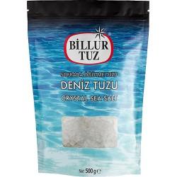 Billur Tuz Sofrada Öğütme Deniz Tuzu Doypack 500 g